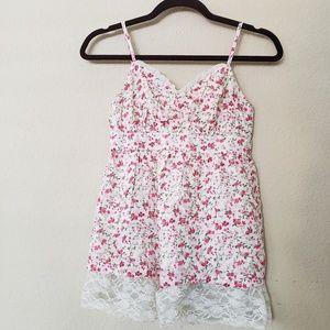 Decree A-Line Floral Lace Tank Top